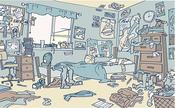 Best Messy Room Illustrations, Royalty.