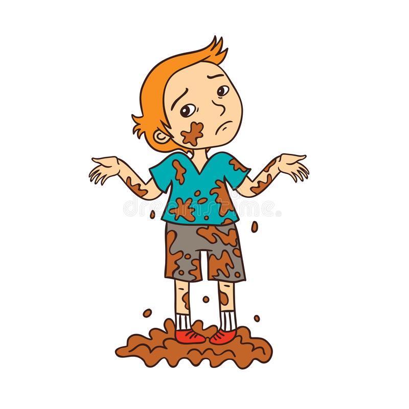 Boy Dirty Stock Illustrations.