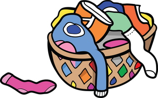 Pick up dirty clothes clipart.