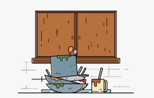 Free Dirty Dishes Clip Art with No Background.