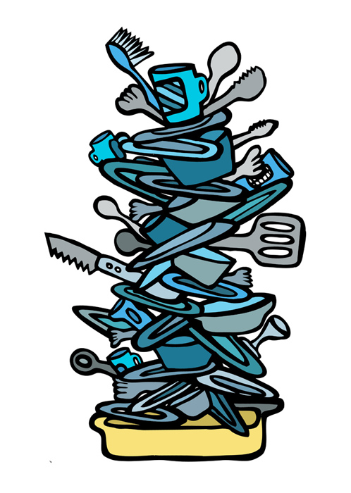 Dirty Dishes Clipart Free.