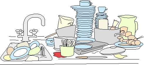 Clipart Dirty Dishes In Sink.