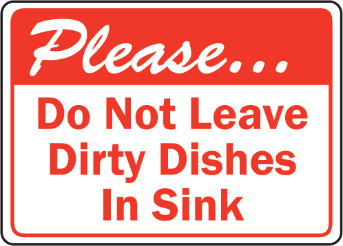 Clipart No Dishes In Sink.