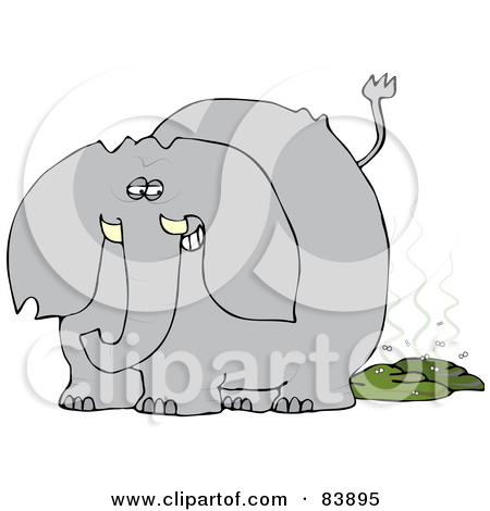 Elephant pooping clipart.