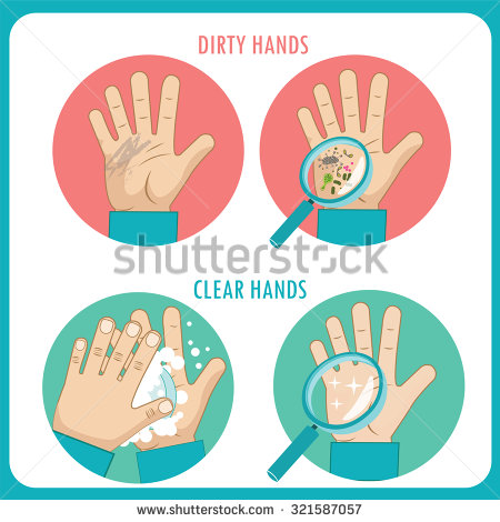 Dirty Hands Stock Images, Royalty.