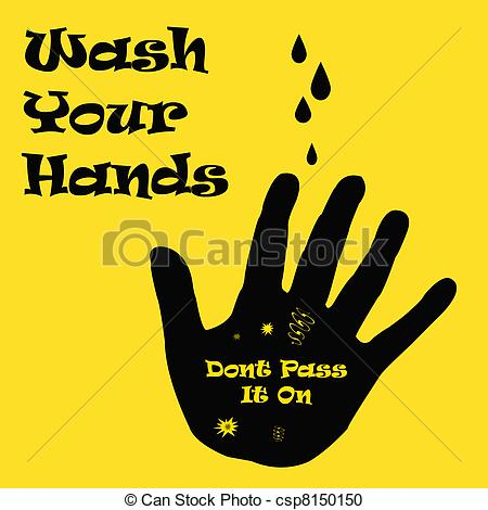Stock Illustration of wash your dirty hands.