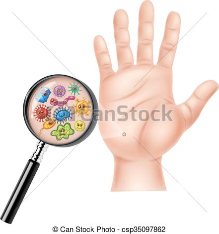 Clip Art Vector of Illustration of Dirty hand.
