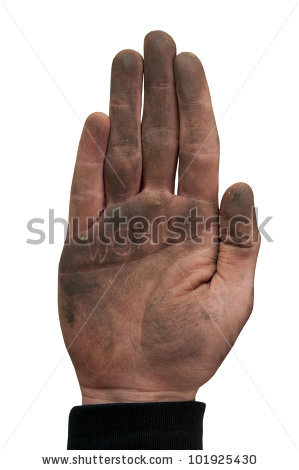 Dirty Hands Isolated Stock Images, Royalty.