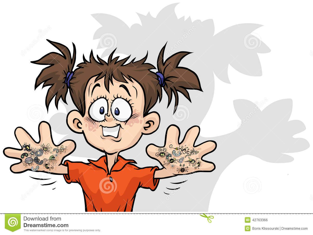 Cartoon Dirty Hands Stock Illustrations.