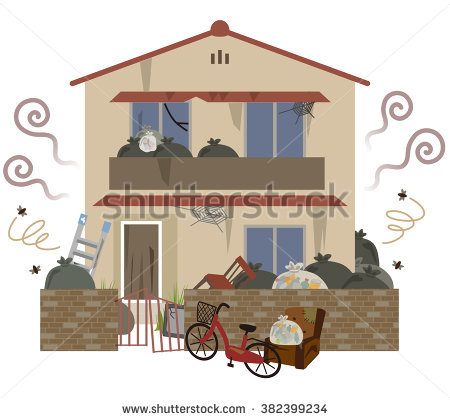 Dirty House Stock Images, Royalty.