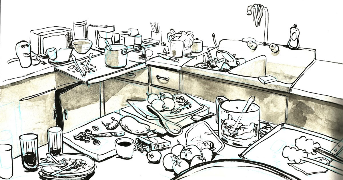 Unhygienic Kitchen Clipart.