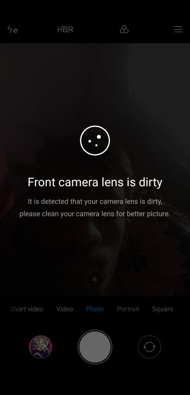 camera lens issue in poco f1.