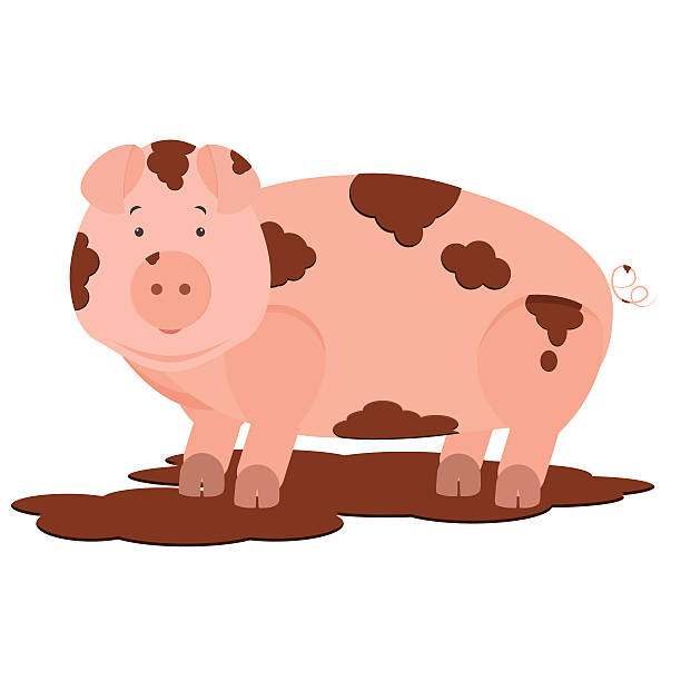 Dirty Pigs Clipart.