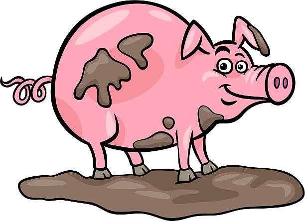 Dirty Pig Clipart.