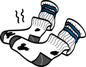 Smelly Shoes Clipart.