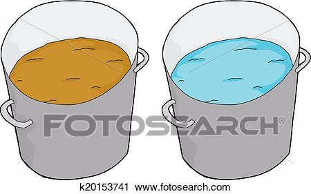 Clean and Dirty Water Clipart.