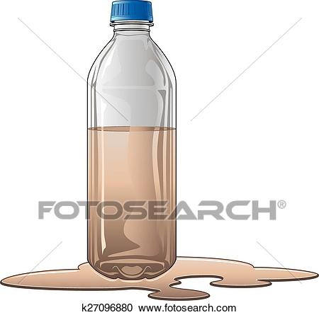 Bottle With Dirty Water Clipart.