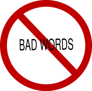 Bad word clipart.