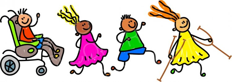 Toddler Art Disabled Friends Prawny Clipart.