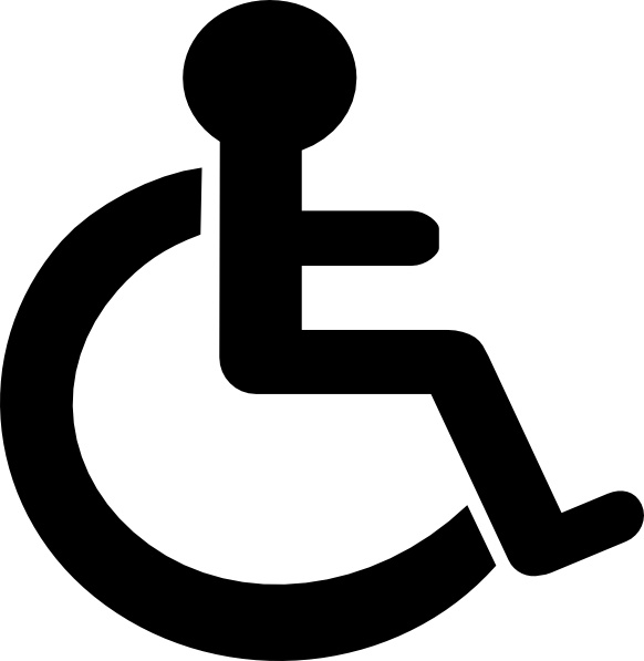 Disability Sign clip art Free vector in Open office drawing svg.