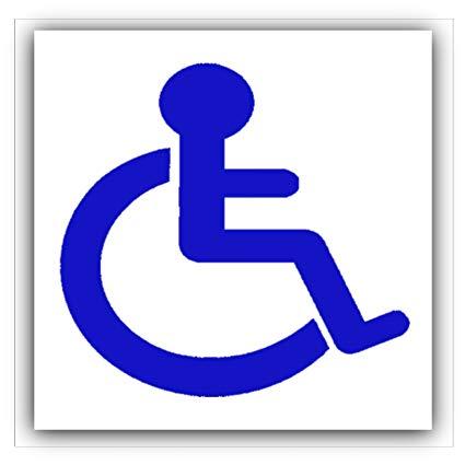 Platinum Place Disabled Logo Car Sticker.