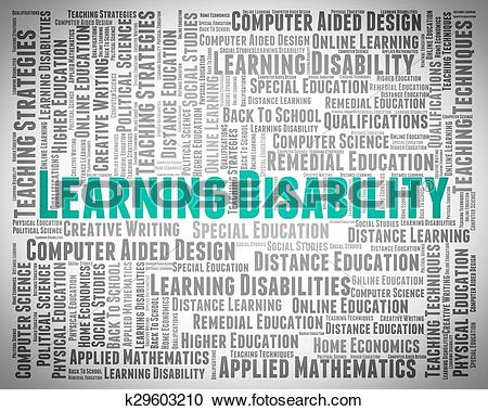Stock Illustrations of Learning Disability Words Indicates Special.