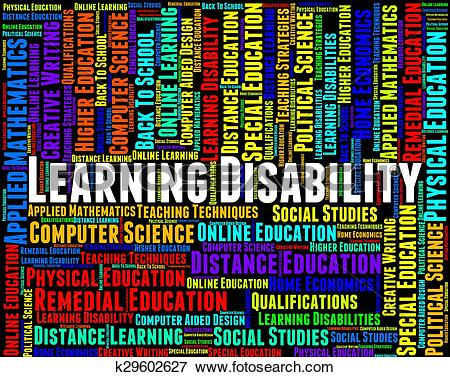 Stock Illustration of Learning Disability Words Represents Special.