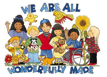 Children with disabilities clipart.
