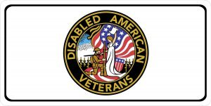Disabled American Veterans Logo Photo License Plate.