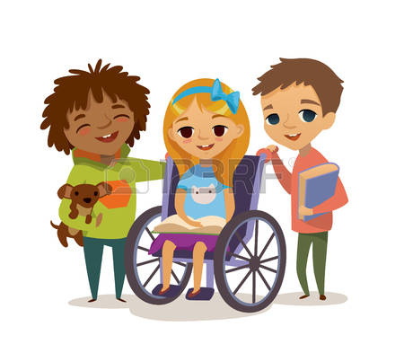 Disabled Child Clipart.