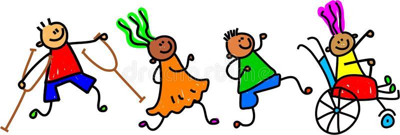 Children Disabled Stock Illustrations.