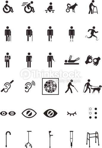 Set of 30 disable icons..