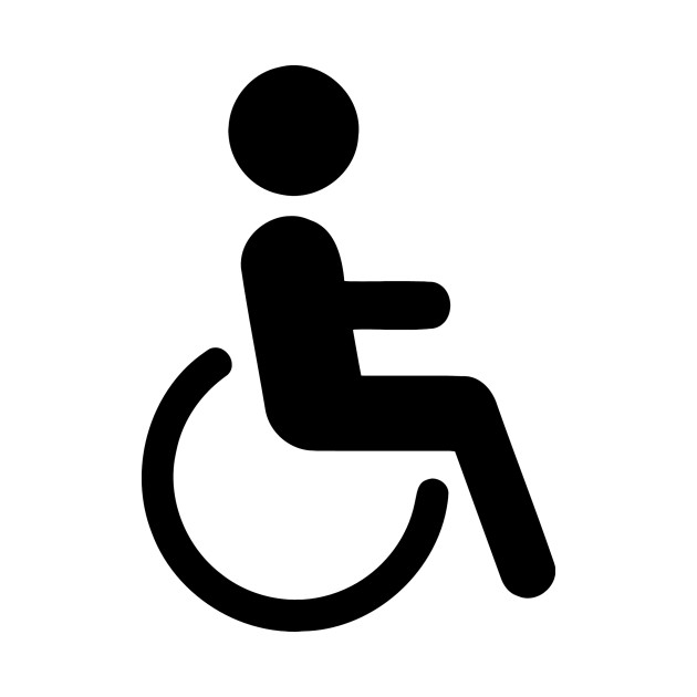 Disabled Chair Person Wheelchair Logo Icon Symbol Emoticon.
