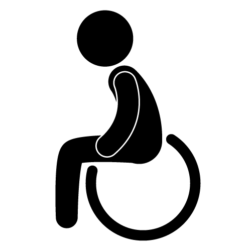 Disabled people clipart.