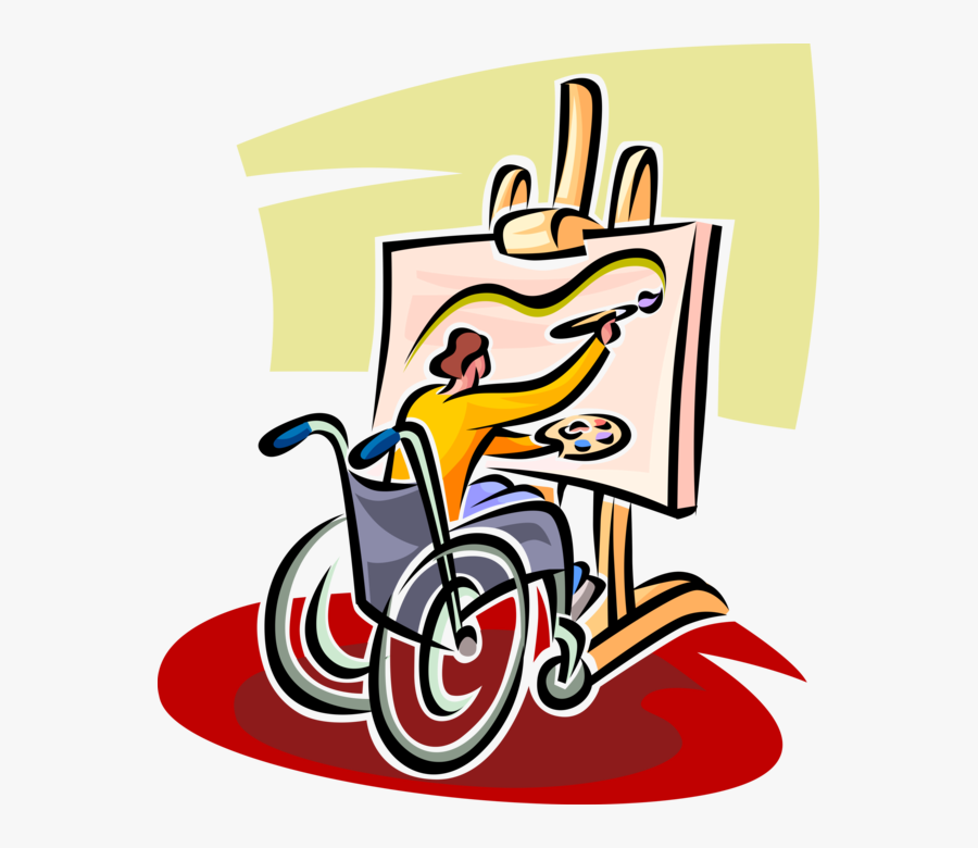 Painting Of Disabled Person , Free Transparent Clipart.