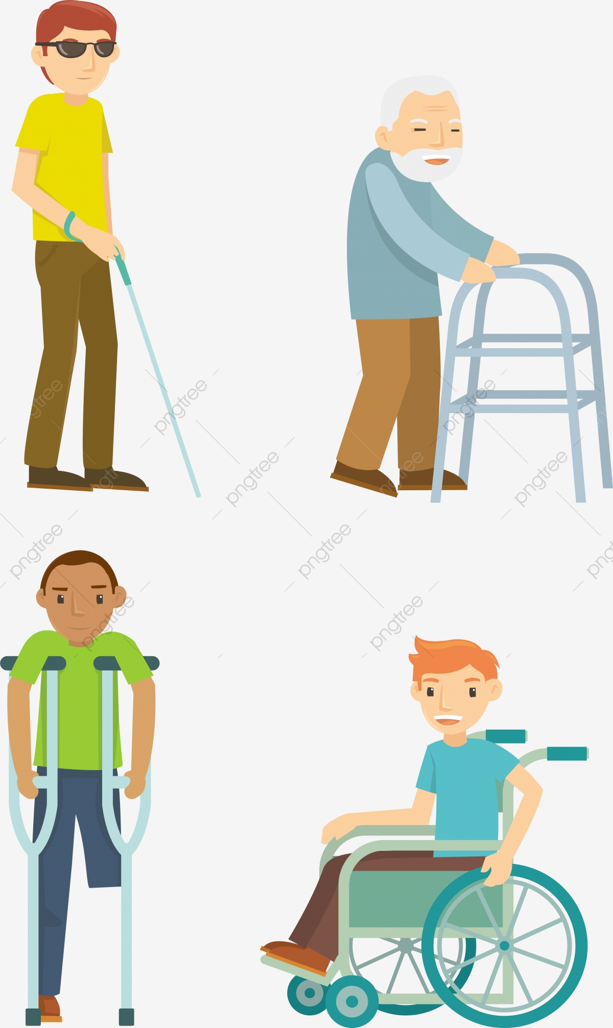 People Disabled, Person, Wheelchair, Illustration PNG and Vector.