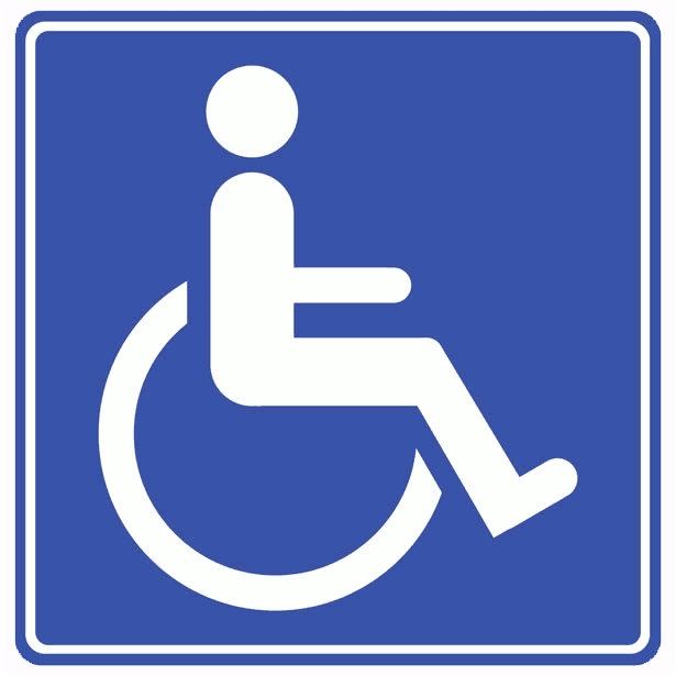disabled sign.