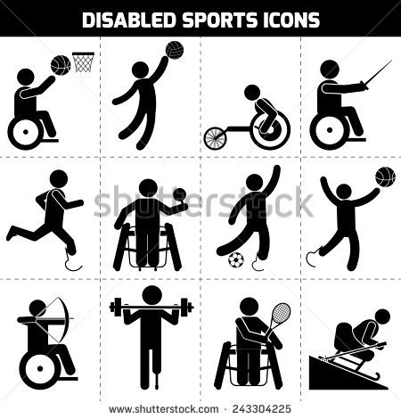 Disabled Sport Stock Images, Royalty.