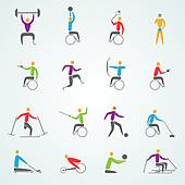 Disabled Sports Clip Art.
