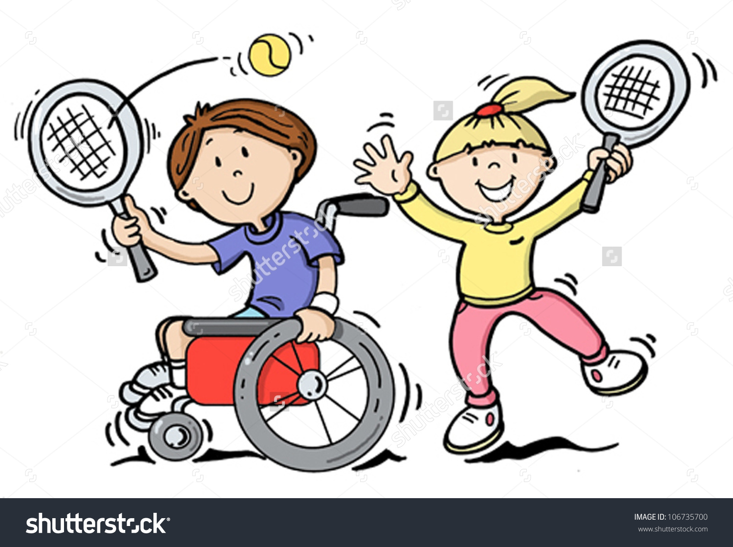 Disability Children Clipart.