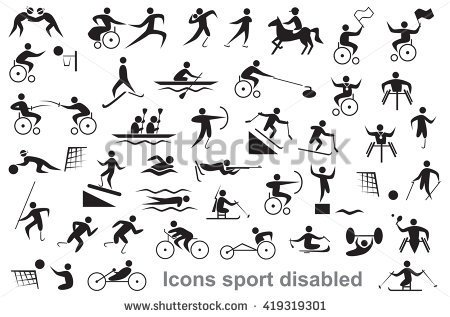 background disabled sports in disabled sports clipart collection.