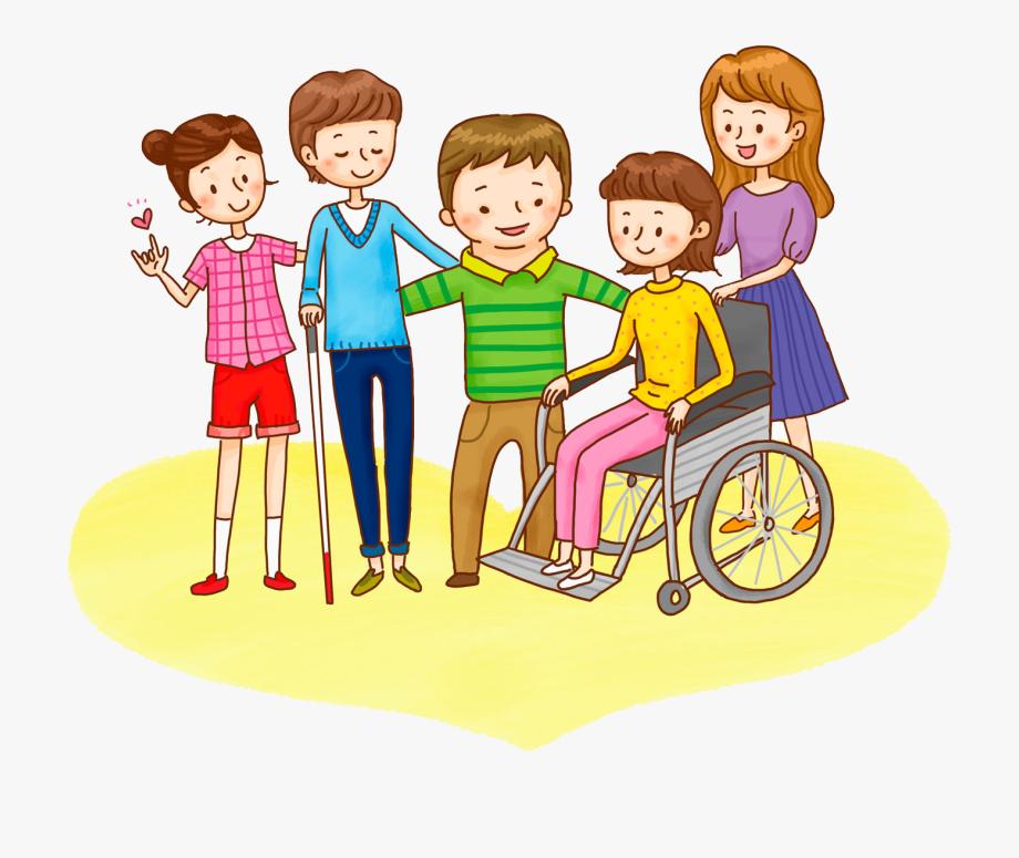 Disabilities Clipart Bean Person.