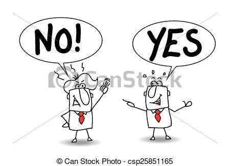 Clip Art Vector of disagreement.
