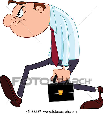 Disappointed businessman Clip Art.