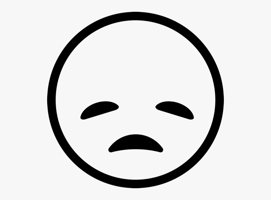Disappointed Emoji Rubber Stamp.
