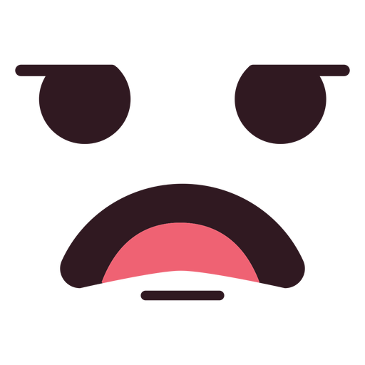 Simple male disappointed emoticon face.