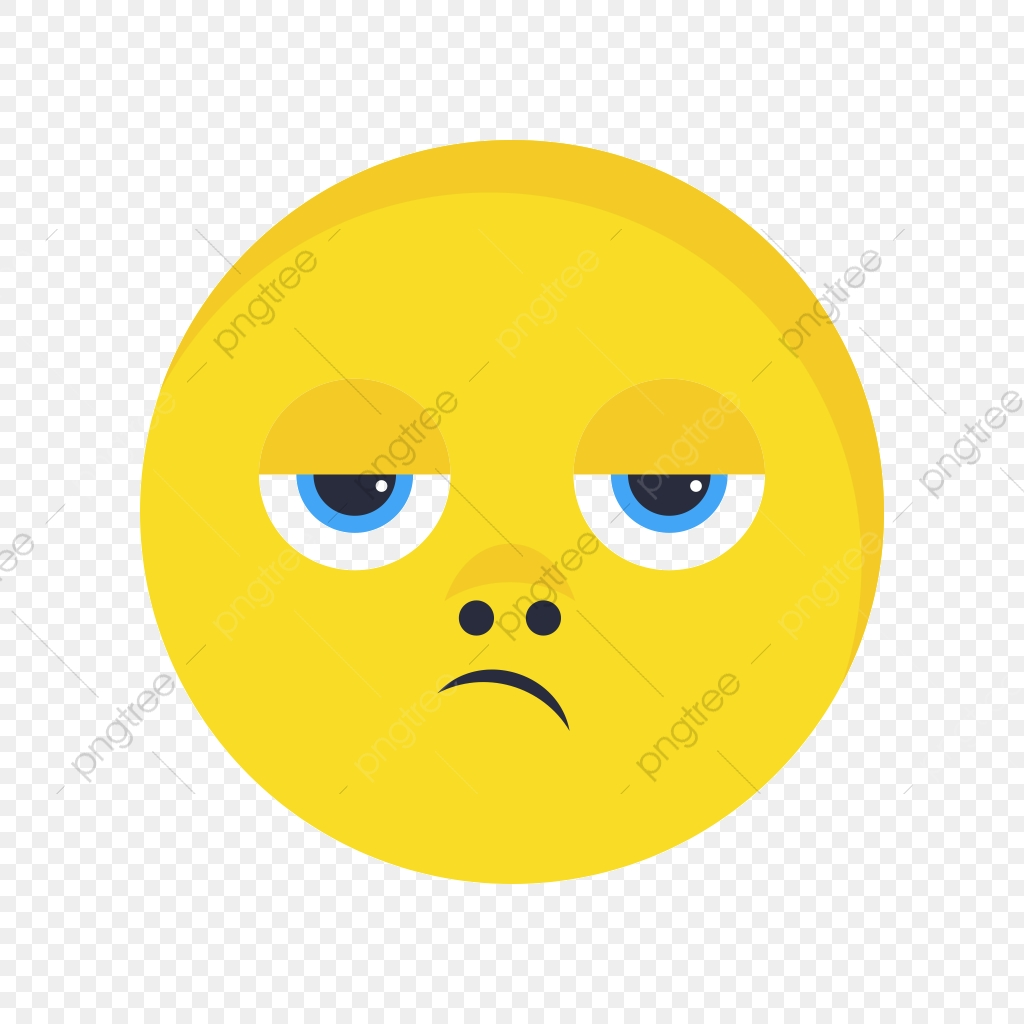 Disappointed Emoji Vector Icon, Disappointed, Emoji, Emoticon PNG.