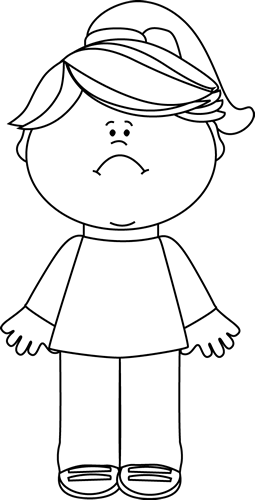 Disappointed Girl Clipart Black And White.