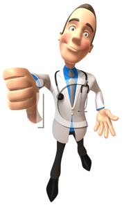 A_doctor_with_a_stethoscope_giving_a_thumbs_down_100615.