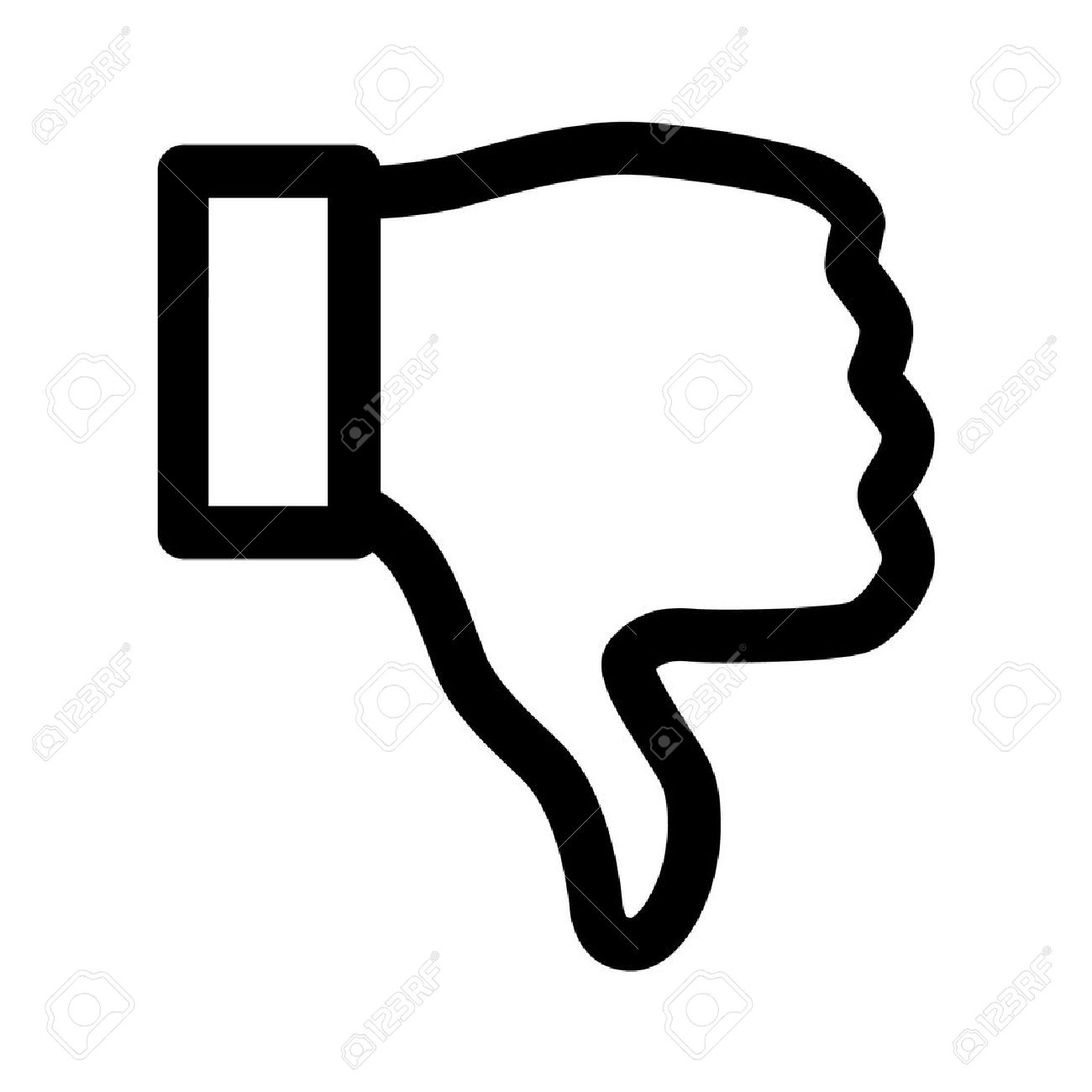 Thumbs Down Dislike Line Art Icon For Apps Royalty Free Cliparts.